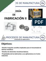Tecnologia de Fabricacion II. Presentación