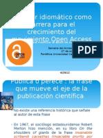 El factor idiomático como barrera para el crecimiento del movimiento Open Access