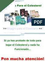 Milagro Para El Colesterol