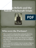 Salem Witch Trials, Puritans, And Intro to the Crucible
