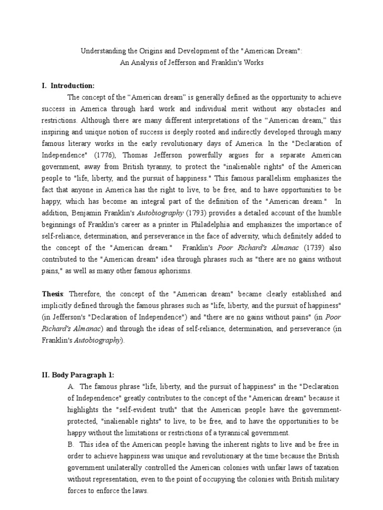 Science Essay Examples  What Is The Thesis Of A Research Essay also Research Paper Essays American Dream Essay Essay Writings In English