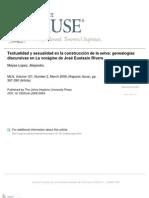 textualidad y sexualidad en la construcción de la selva_ genealogías discursivas en La vorágine