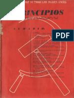 Principios N°1 -  Julio 1941- Partido Comunista de Chile