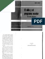 El Niño y el Programa Escolar - Jhon Dewey