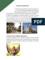 DISTRITO DE LAMBAYEQUE