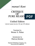 Kant, CPR Pluhar, Antinomy Edited