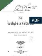 De Parahyba a Valparaiso. Una excursión por América del Sur, hace cincuenta años. (1915)