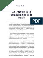 Emma Goldman-La Tragedia de La Emancipacion de La Mujer