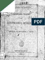 Disposiciones vijentes sobre subvenciones acordadas a las empresas de navegación a vapor. (1887)