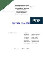 Cultura y Valores (Trabajo rio II)