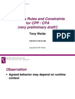 Business Rules and Constraints