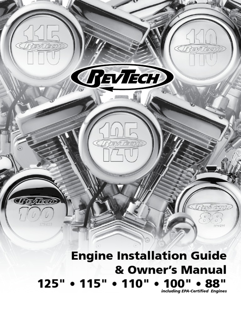 RevTech Engine Installation Guide (2) | Transmission (Mechanics) |  Carburetor