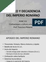 APOGEO Y DECADENCIA DEL IMPERIO ROMANO