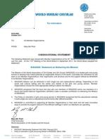 Coeducational Statement Oct 2011