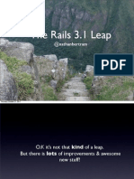 The Rails 3.1 Leap - 2011