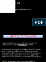 Input Output Analysis