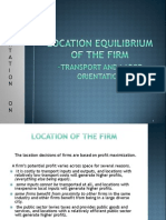 Location Equilibrium of the Firm