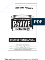 ReVIVE Refesh Pro Owners Manual