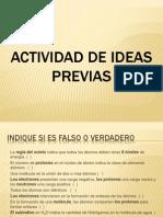 Actividad de Ideas Previas