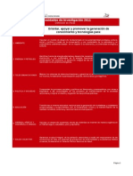Necesidades de Investigación 2011. MPP Ciencia, tecnología e industrias intermedias