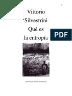 QUE ES LA ENTROPIA-Vittorio Silvestrini