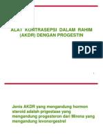 AKDR progestin