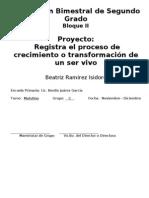 2do Grado - Bloque II - Proyecto 1
