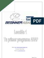 Tu Primer Programa ABAP