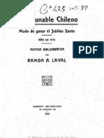 Un incunable chileno. (1910)