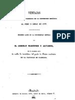 Ventajas que reportó la farmacia de la expedición botánica al Perú y Chile en 1777...........  (1861)