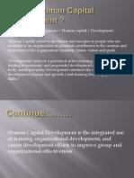 What is Human Capital Development 03