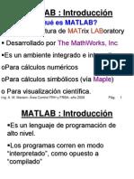 Matlab Curso Introduccion 2008
