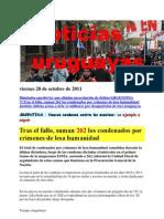 Noticias Uruguayas Viernes 28 de Octubre de 2011