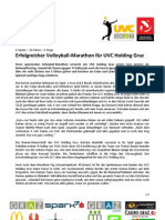 Erfolgreicher Volleyball-Marathon für UVC Holding Graz