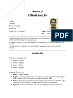 English Malay Translator Azman Salleh
