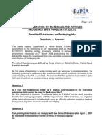 100615 Swiss FCM Ordinance - EuPIA Q