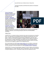 Expose and Destroy OWS - Occupy Wall Street Versus Traditional America - Talking Points