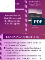 1. Risk, Return & Opportunity Cost of Capital