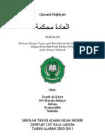 Makalah Qawaid Fiqhiyyah (Adatu Muhkamah)