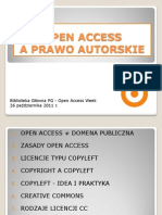 Open Access a prawo autorskie