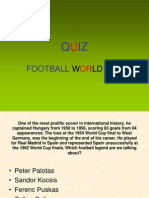 QUIZ Football World Cup