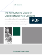 19601868 Lehman Brothers the Restructuring Clause in Credit Default Swap Contracts