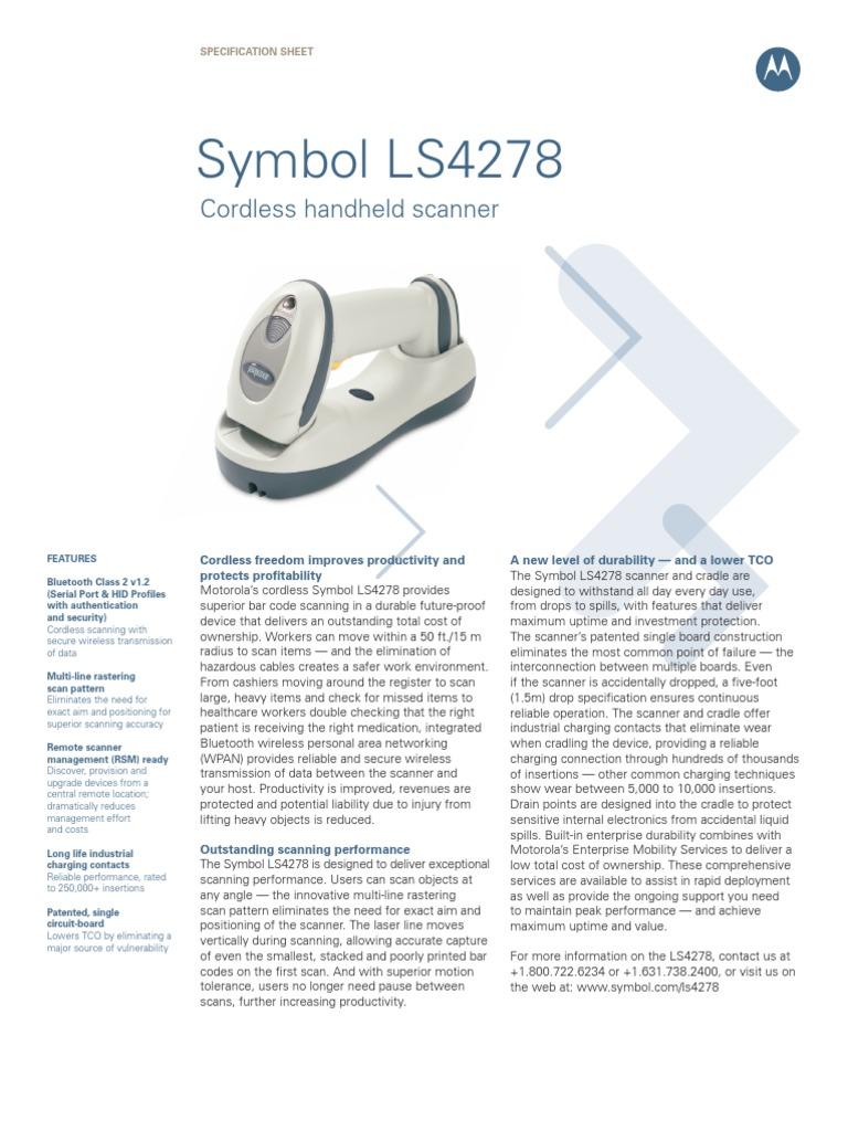 Symbol ls4278 data sheet image scanner barcode biocorpaavc Images