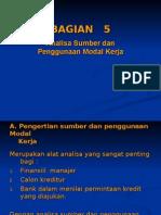 5_Analisa Sumber & Penggunaan Modal Kerja