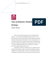 Note on Defensive Marketing Strategies
