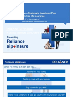 Reliance SIP Insure Presentation