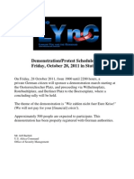 Demonstration/Protest scheduled for Friday, October 28, 2011 in Stuttgart.