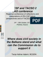 Where Does Civil Society Stand in the Balkans and What Can the Commission Do to Support It?