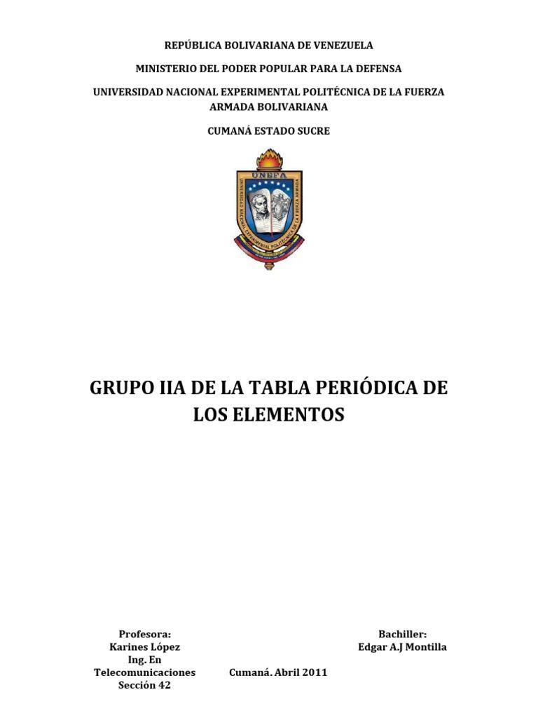 Unefa quimica grupo iia alcalinoterros urtaz Image collections