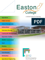 Easton College FE Prospectus 2012
